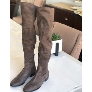 Ivanka Trump over the knee taupe boots